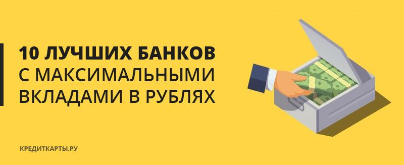 Банки с максимальными вкладами в рублях