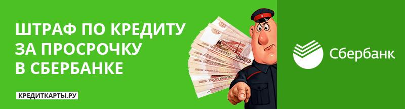 Чем грозит просрочка по кредиту в Сбербанке