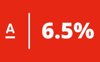 ниже ставки ещё не было - 6.5% годовых по кредиту