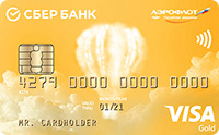 Золотая Аэрофлот кредитная карта сбербанка